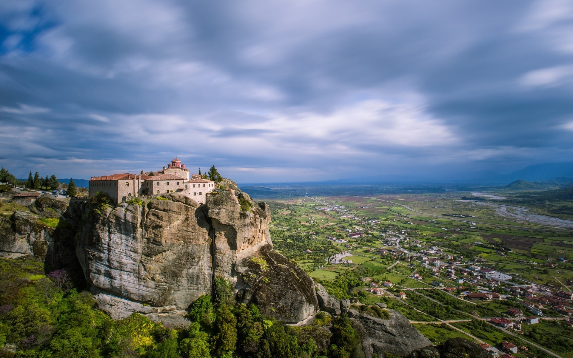 Meteora Greece Landscape 1920 X 1200 Widescreen Wallpaper