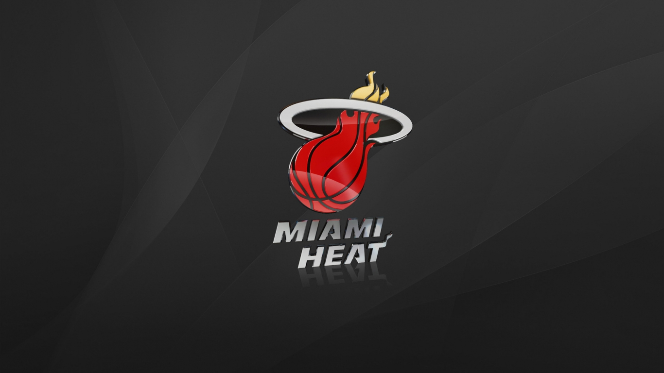Miami Heat for 1366 x 768 HDTV resolution