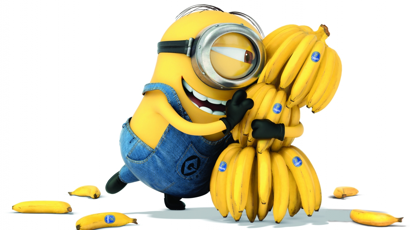 Minion Banana for 1366 x 768 HDTV resolution