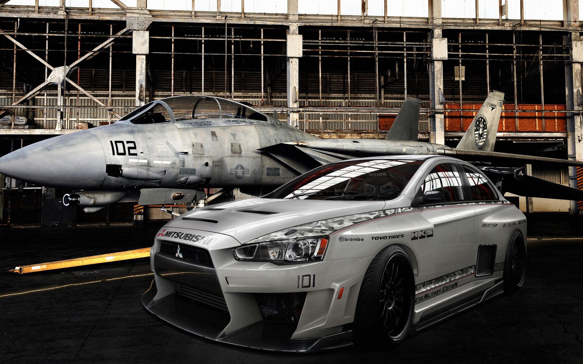 Mitsubishi Lancer Evolution Military for 1920 x 1200 widescreen resolution