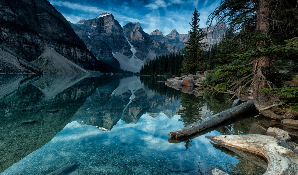 Moraine Lake Alberta Canada for 1024 x 600 widescreen resolution