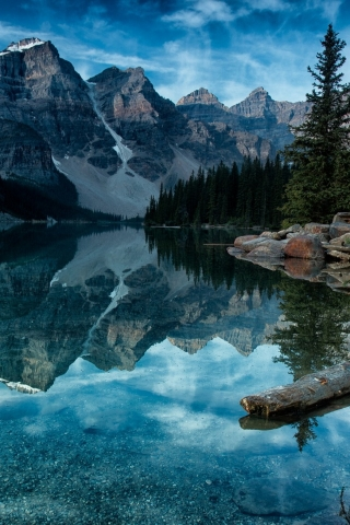 Moraine Lake Alberta Canada for 320 x 480 iPhone resolution