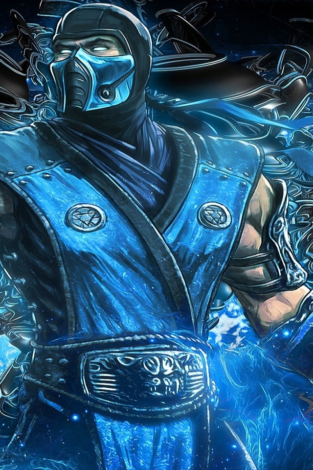 Mortal Kombat Subzero 640 X 960 Iphone 4 Wallpaper