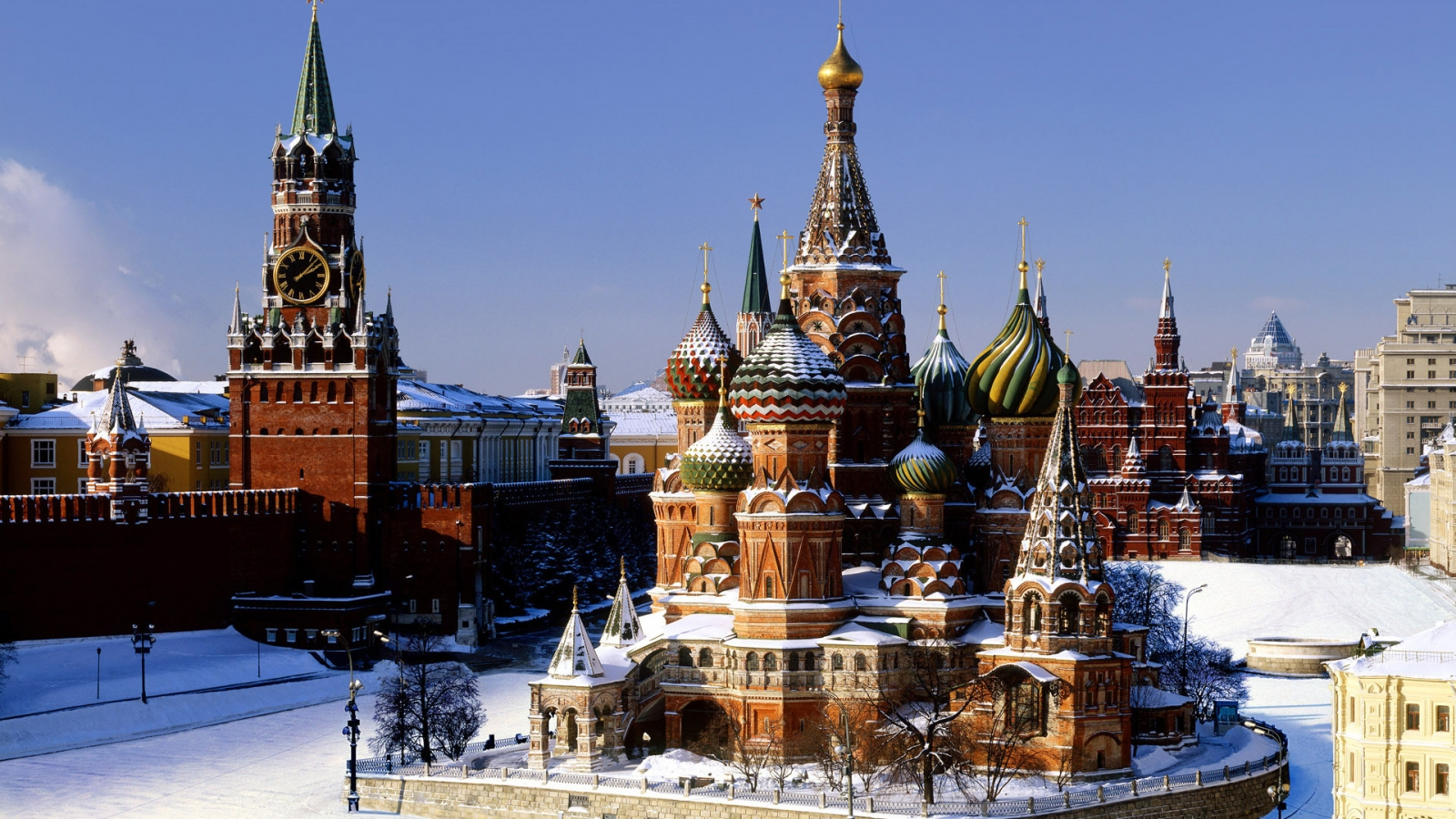 Moscow Kremlin for 1600 x 900 HDTV resolution