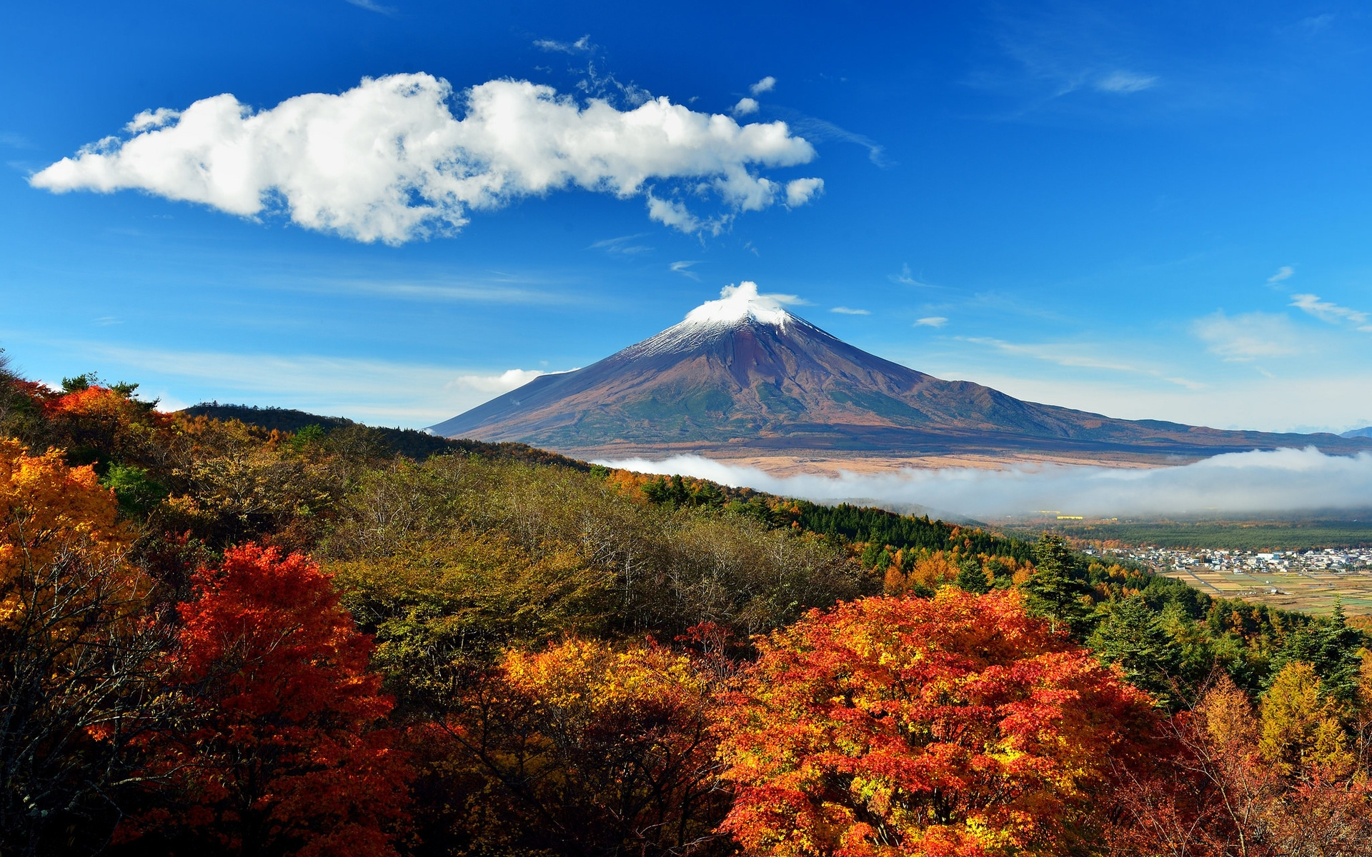 Mount Fuji Japan 1920 X 1200 Widescreen Wallpaper