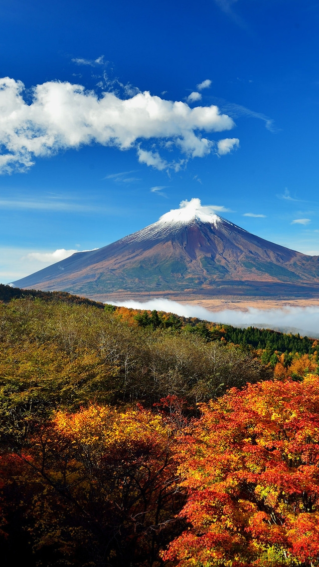 Mount Fuji Japan for 640 x 1136 iPhone 5 resolution