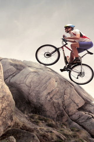Mountain Biker for 320 x 480 iPhone resolution