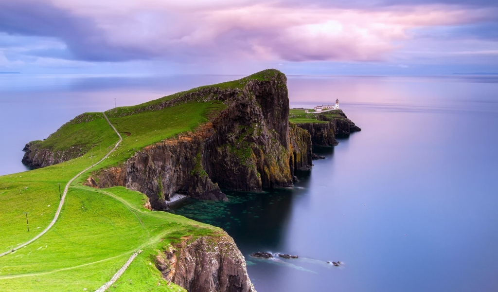 Neist Point Lighthouse for 1024 x 600 widescreen resolution