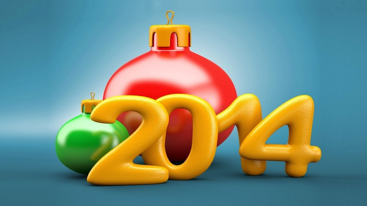 New Year 2014 for 1280 x 720 HDTV 720p resolution