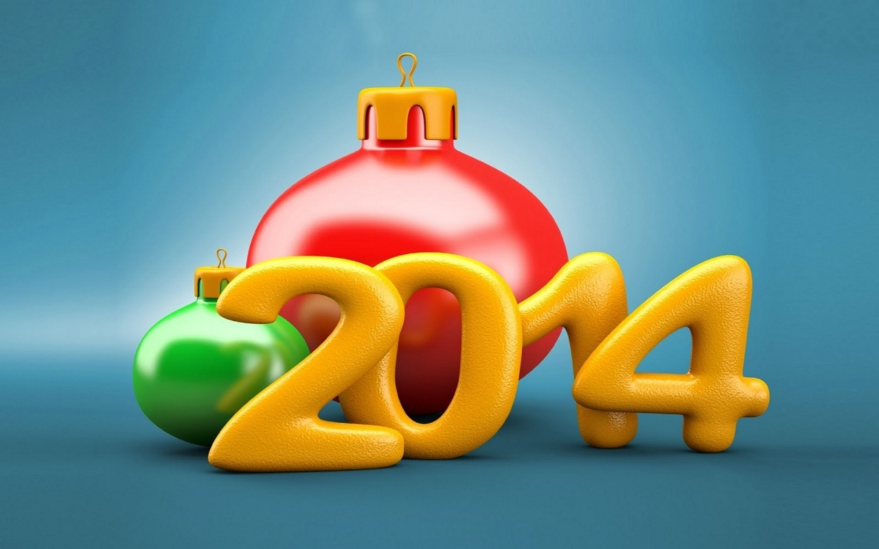 New Year 2014 for 1280 x 800 widescreen resolution