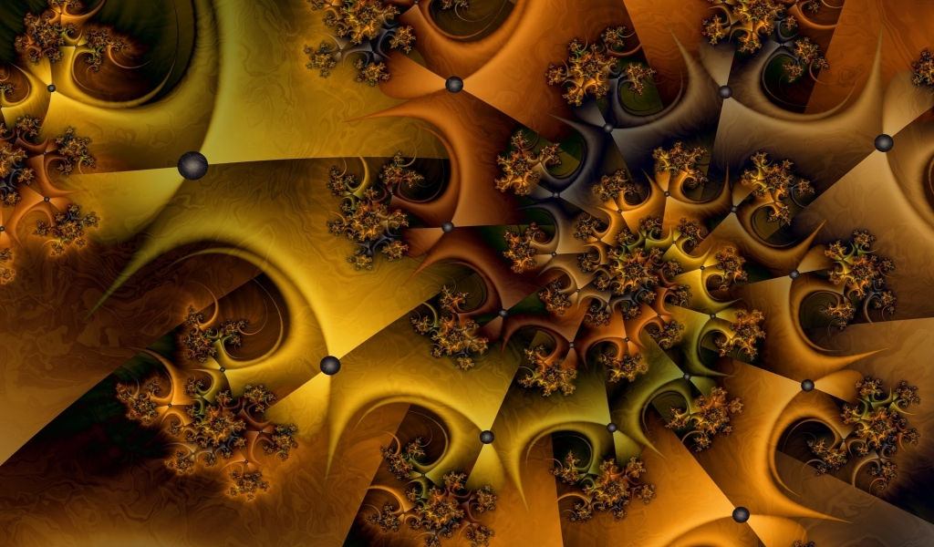 Nice fractal for 1024 x 600 widescreen resolution