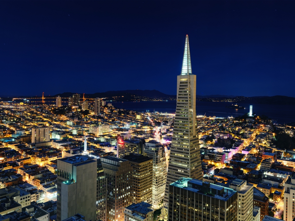 Night in San Francisco for 1152 x 864 resolution