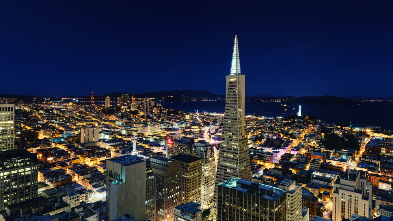 Night in San Francisco for 1366 x 768 HDTV resolution