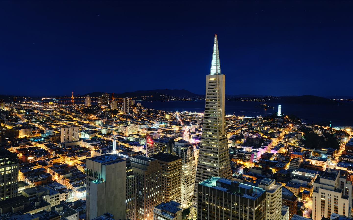 Night in San Francisco for 1440 x 900 widescreen resolution