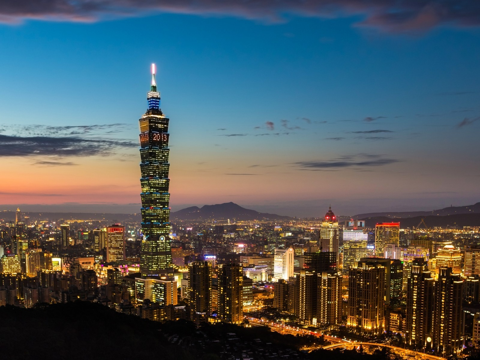 Night in Taipei for 1600 x 1200 resolution