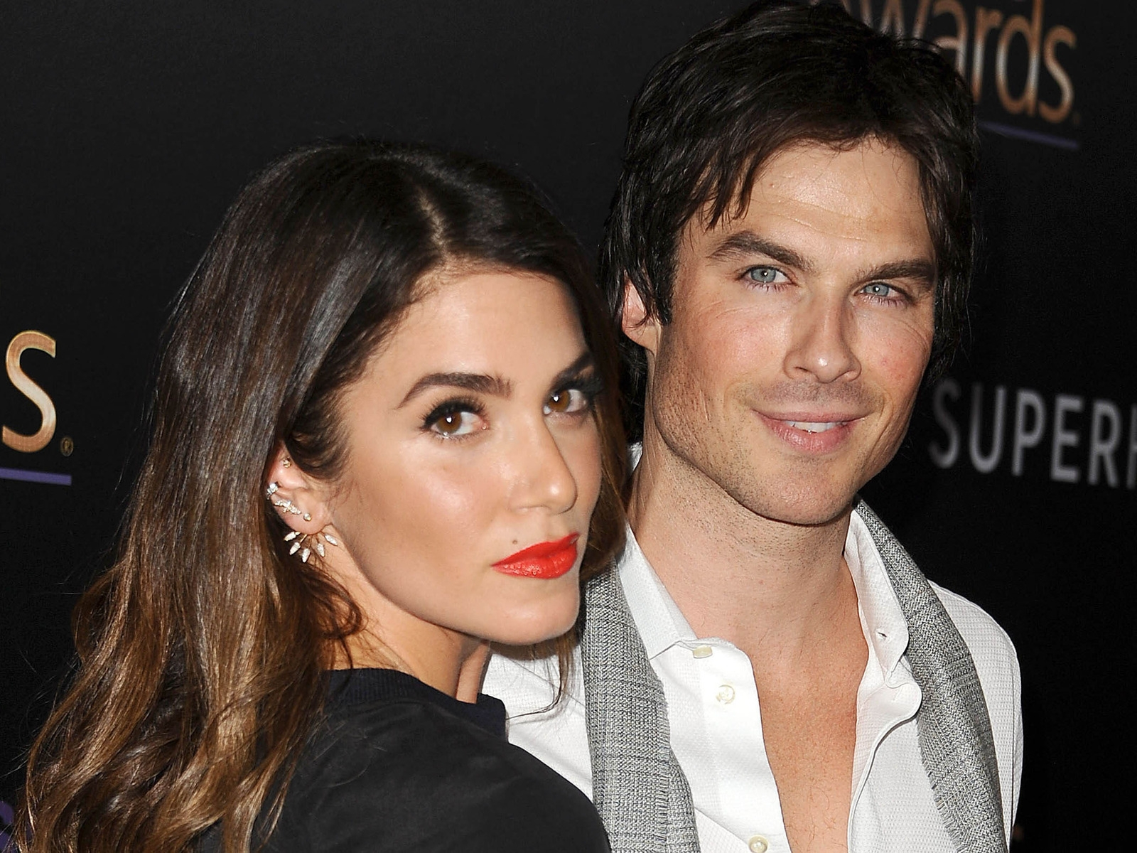 Nikki Reed and Ian Somerhalder for 1600 x 1200 resolution