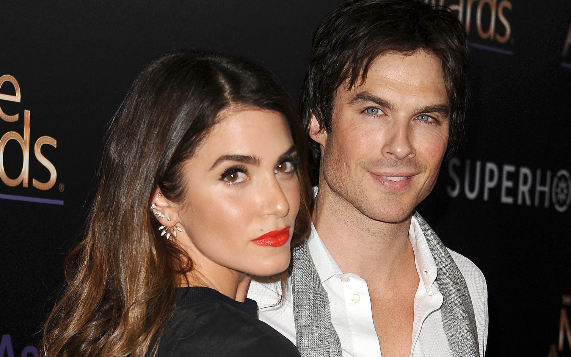 Nikki Reed and Ian Somerhalder for 1920 x 1200 widescreen resolution