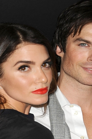 Nikki Reed and Ian Somerhalder for 320 x 480 iPhone resolution
