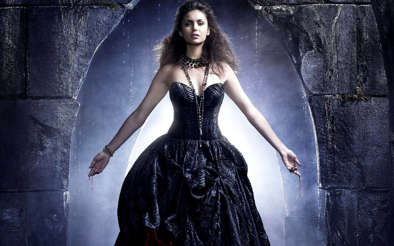 Nina Dobrev on The Vampire Diaries for 1280 x 800 widescreen resolution