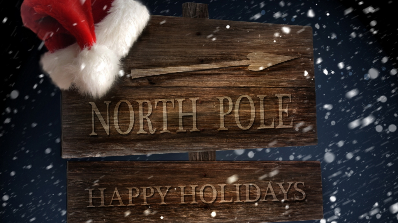 North Pole for 1366 x 768 HDTV resolution