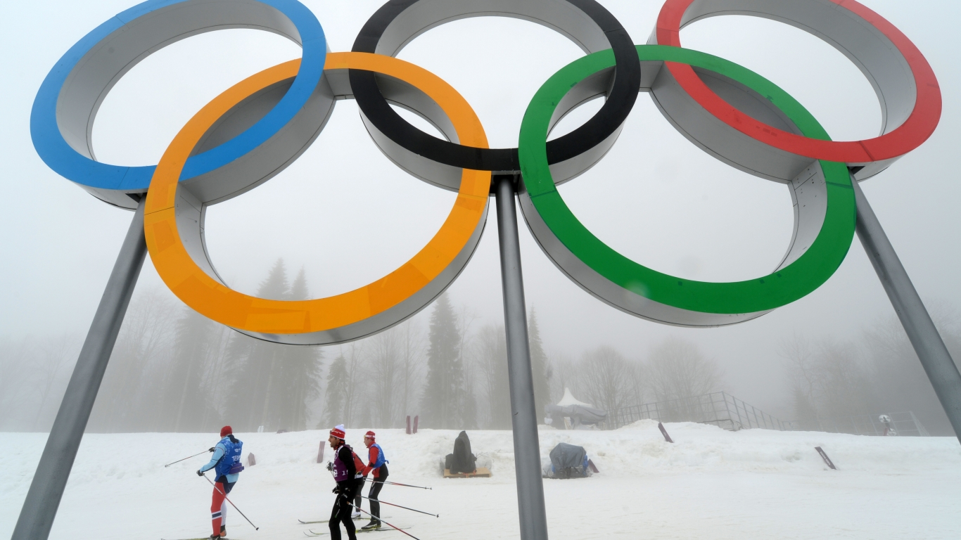 Olympic Rings for 1366 x 768 HDTV resolution