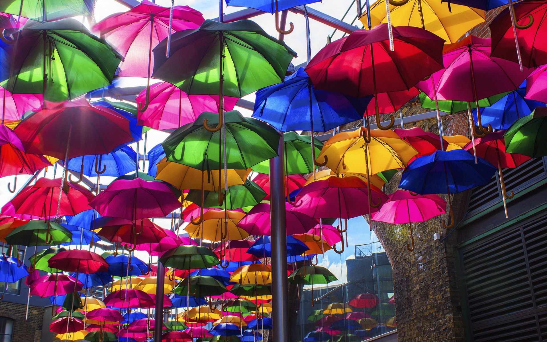 Opened Colorful Umbrellas for 1920 x 1200 widescreen resolution