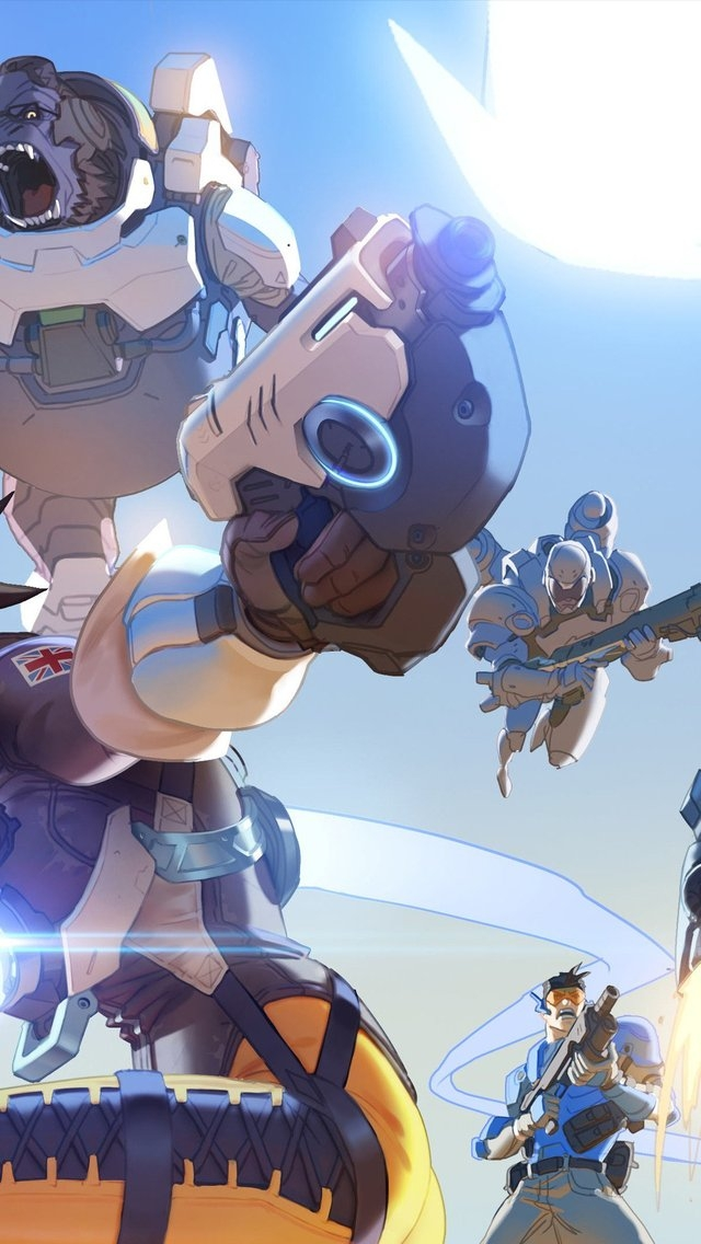 Overwatch Game for 640 x 1136 iPhone 5 resolution