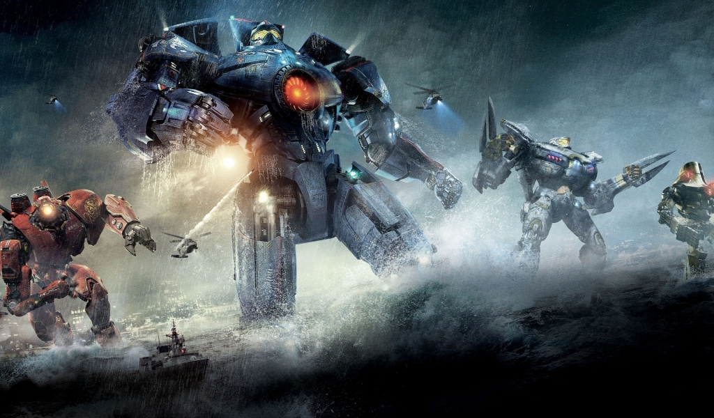 Pacific Rim Robots for 1024 x 600 widescreen resolution