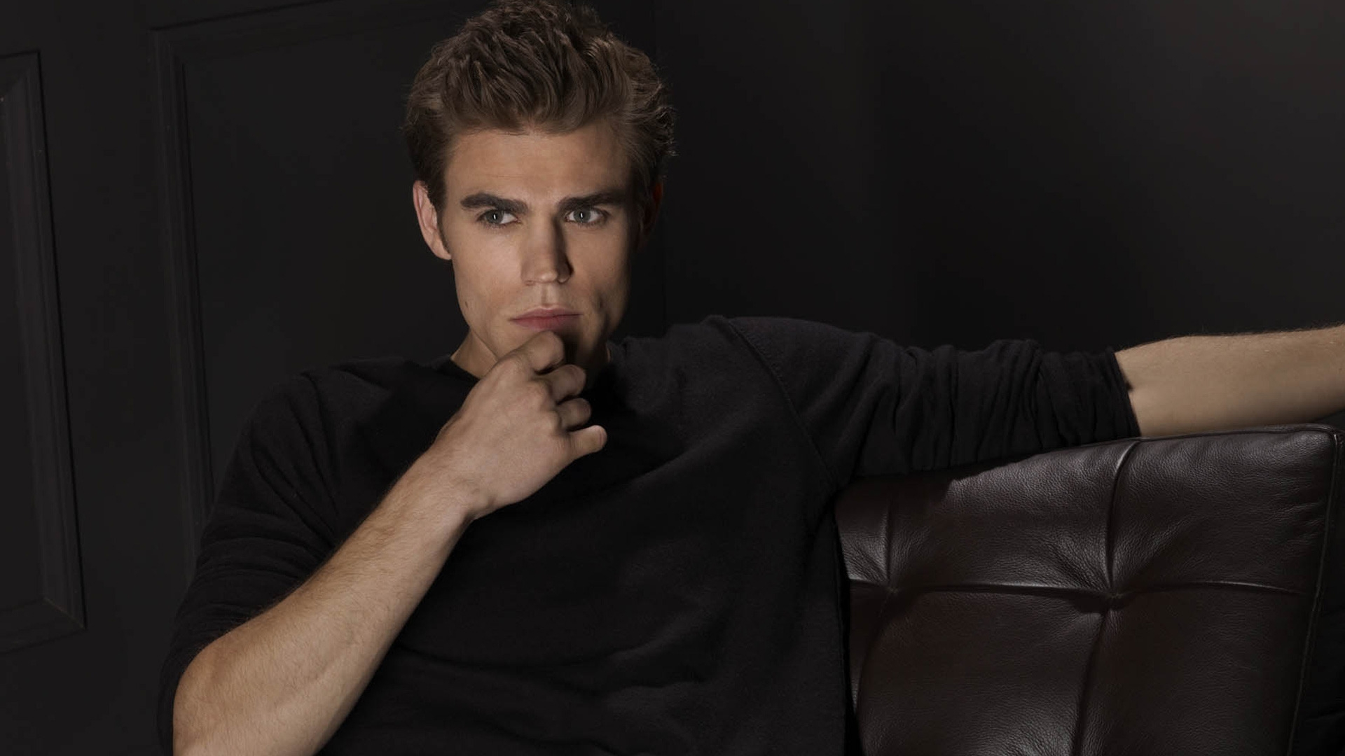Paul Wesley for 1920 x 1080 HDTV 1080p resolution