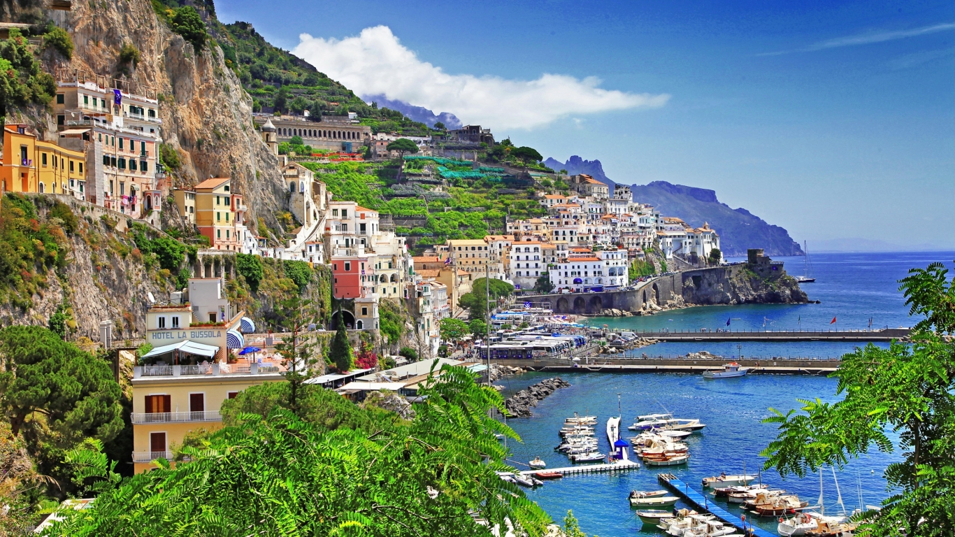 Positano Salerno for 1366 x 768 HDTV resolution