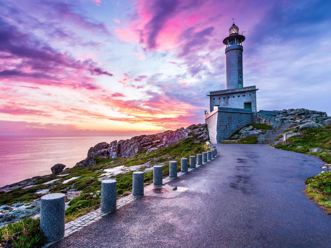 Punta Nariga Spain Lighthouse for 1152 x 864 resolution