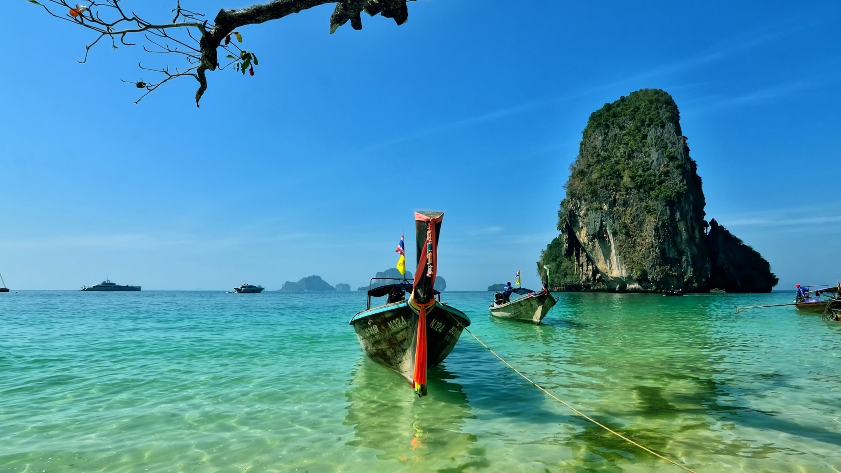 Railay Beach Thailand for 1680 x 945 HDTV resolution