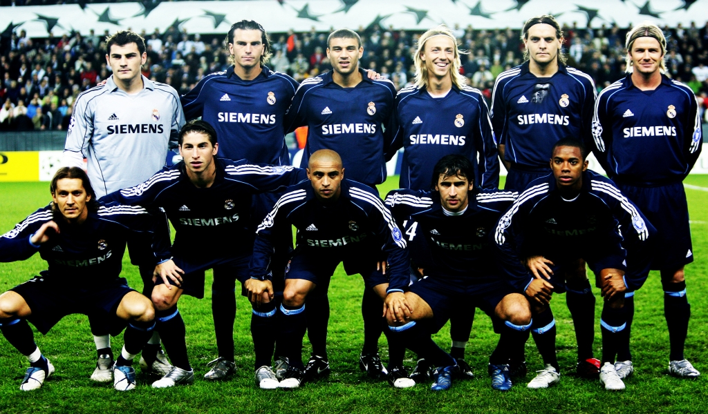 Real Madrid Team for 1024 x 600 widescreen resolution