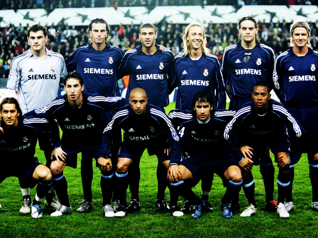 Real Madrid Team for 1024 x 768 resolution