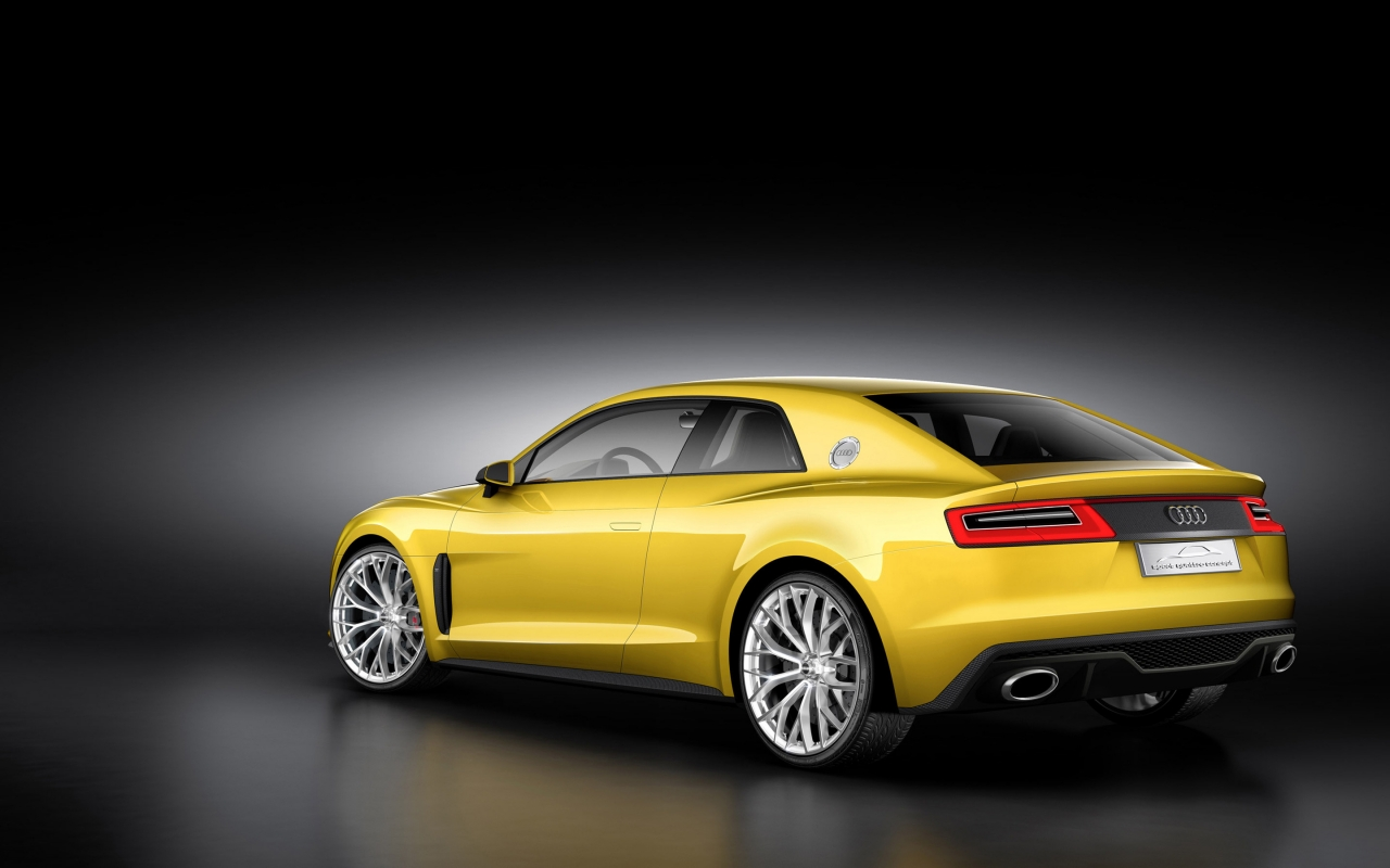 Rear of Audi Sport Quattro Concept for 1280 x 800 widescreen resolution