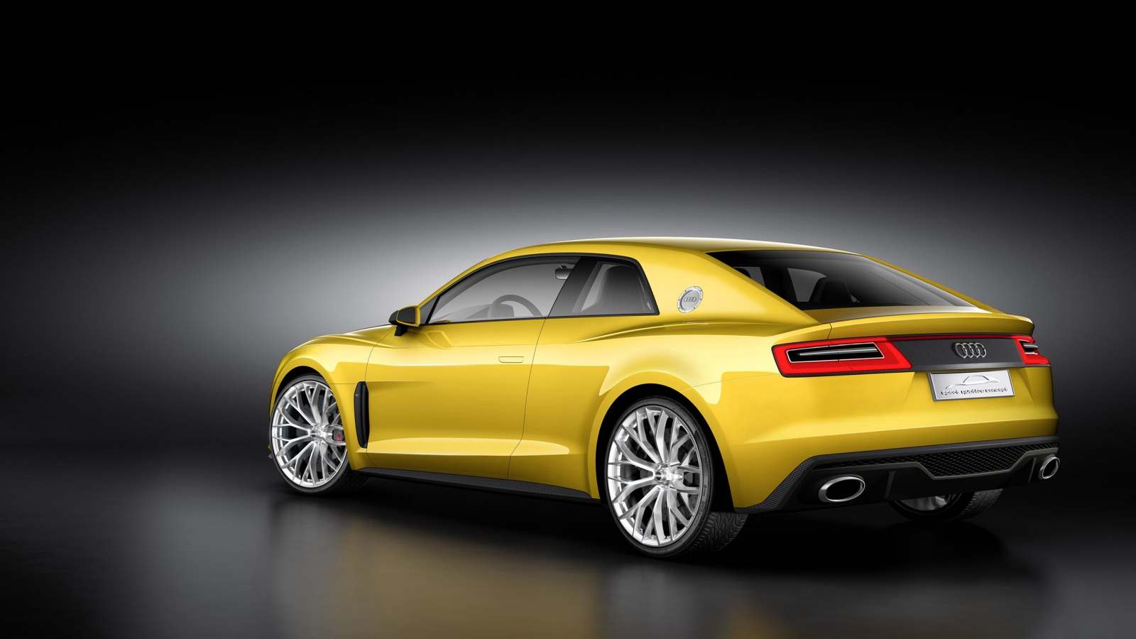 Rear of Audi Sport Quattro Concept for 1600 x 900 HDTV resolution