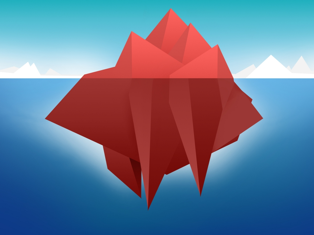 Red Minimal Iceberg for 1024 x 768 resolution