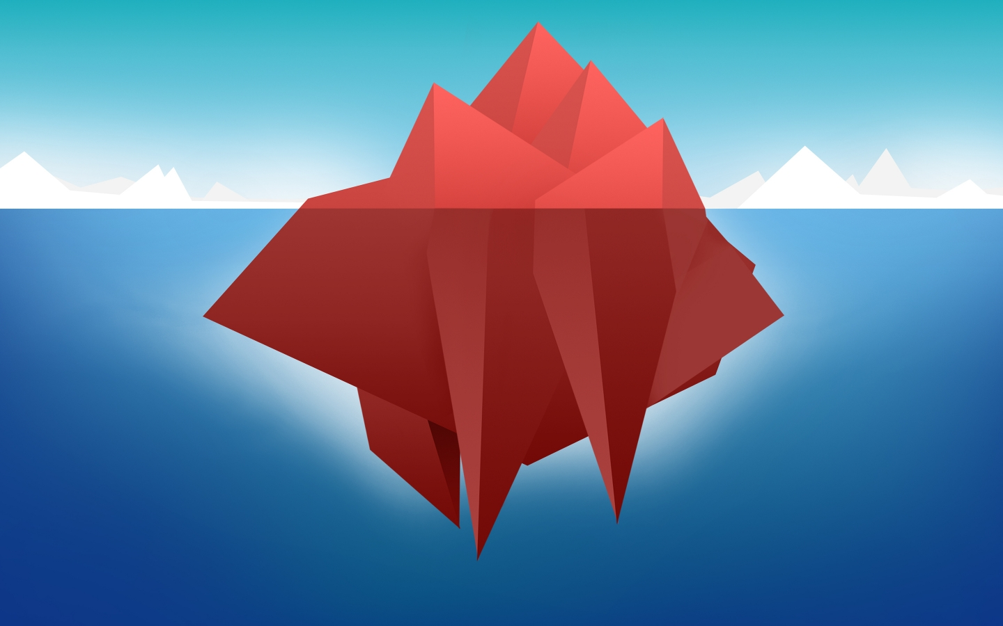 Red Minimal Iceberg for 1440 x 900 widescreen resolution