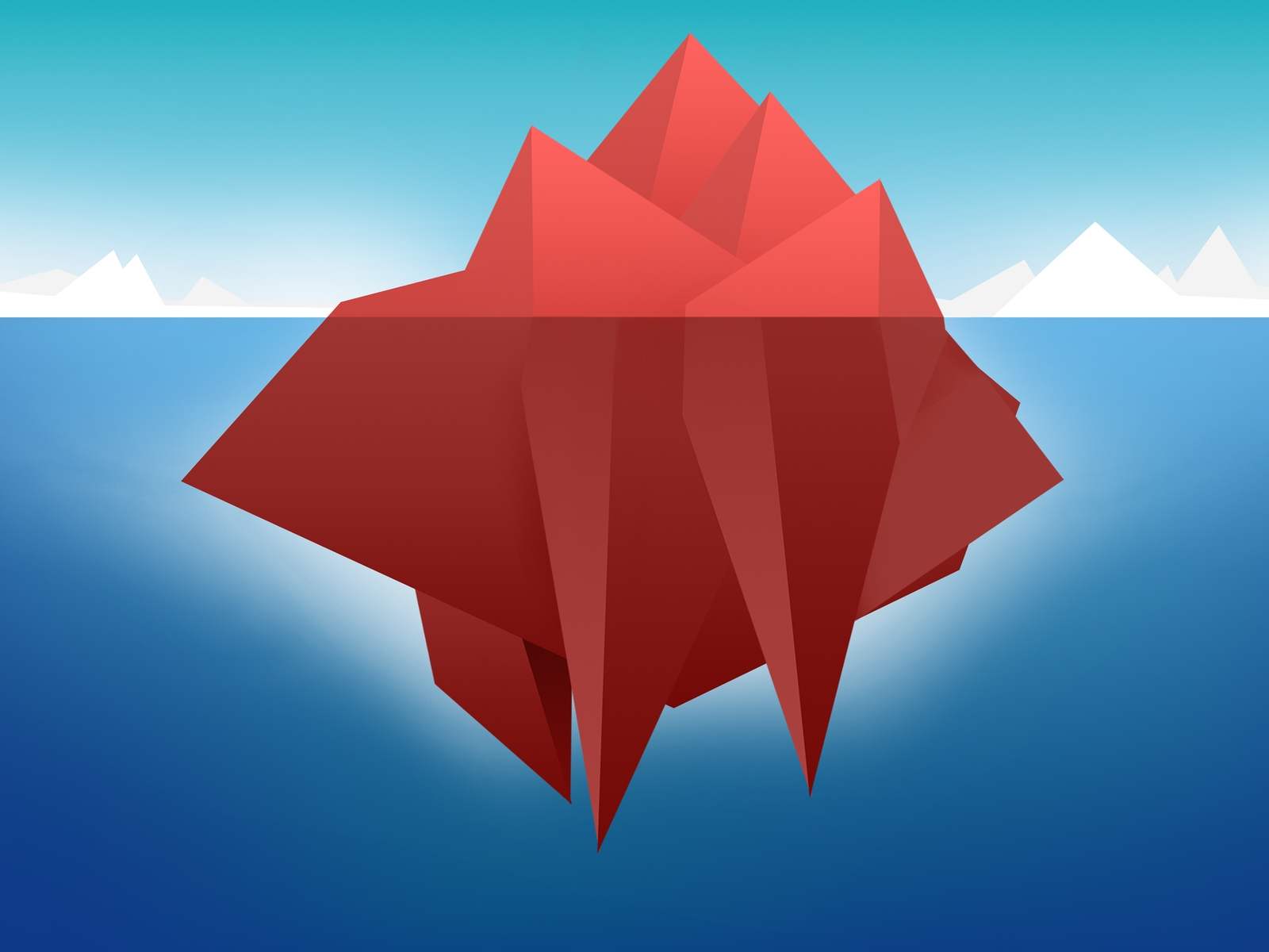Red Minimal Iceberg for 1600 x 1200 resolution