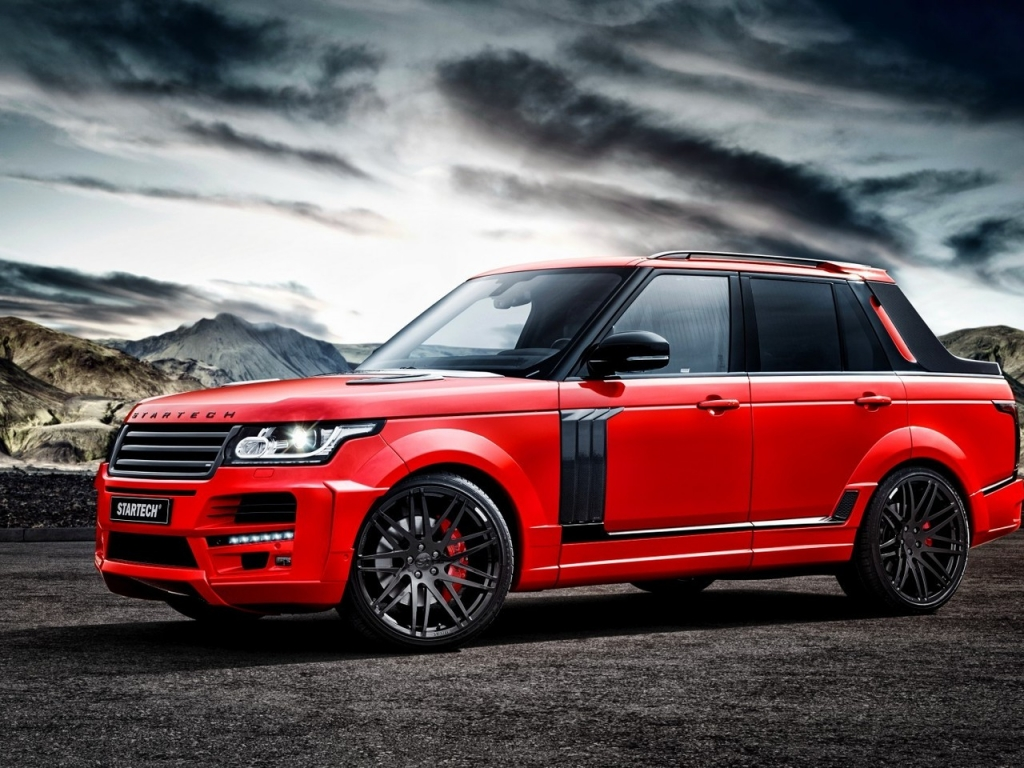 Red Startech Range Rover Pickup for 1024 x 768 resolution