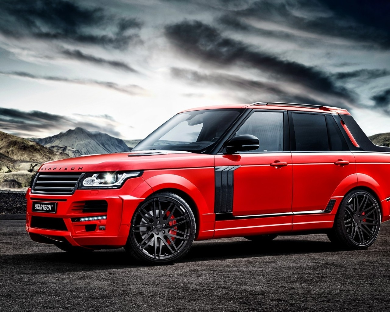 Red Startech Range Rover Pickup for 1280 x 1024 resolution
