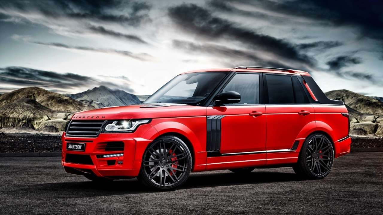 Red Startech Range Rover Pickup for 1280 x 720 HDTV 720p resolution