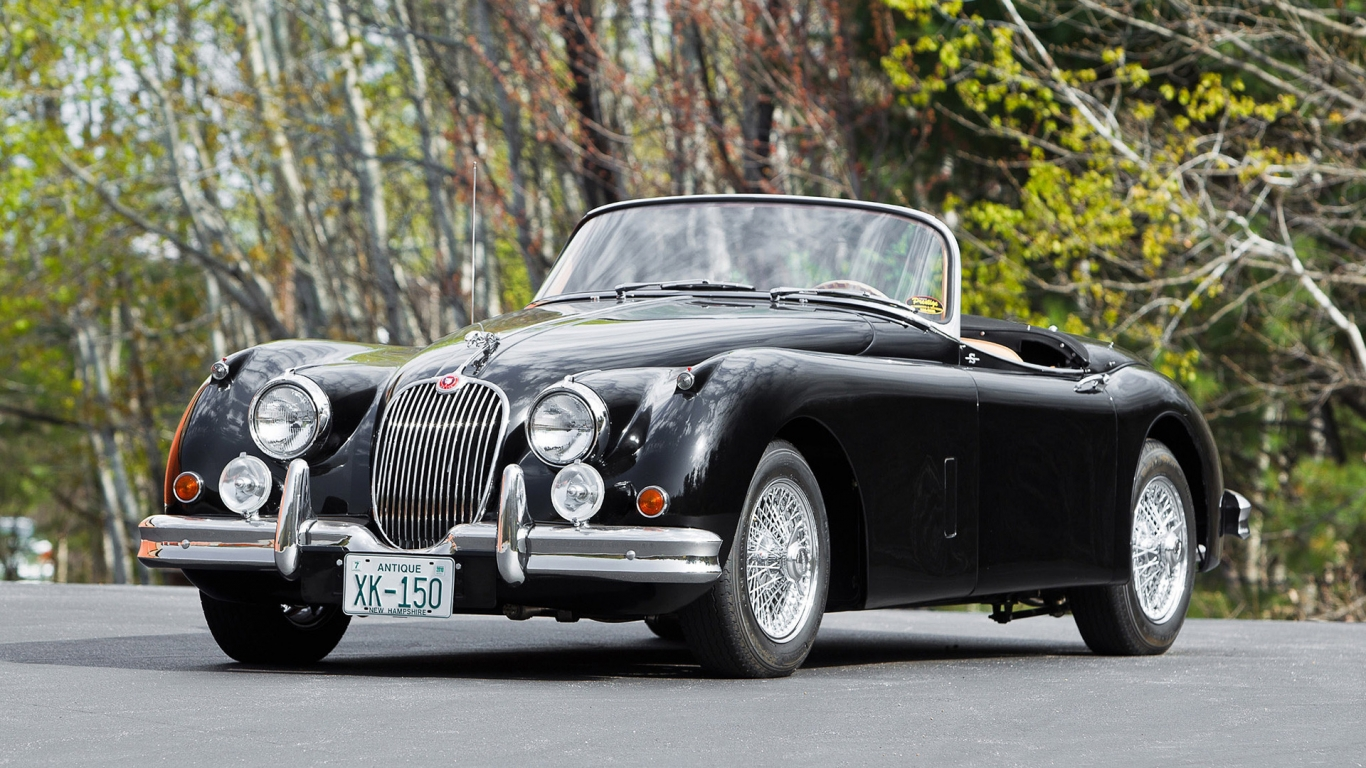 Roadster Jaguar XK 150 for 1366 x 768 HDTV resolution