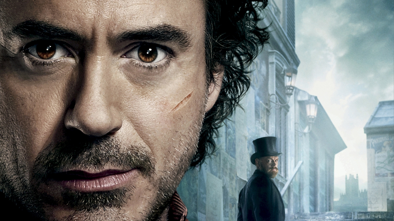 Robert Downey Jr Sherlock Holmes 2 for 1366 x 768 HDTV resolution