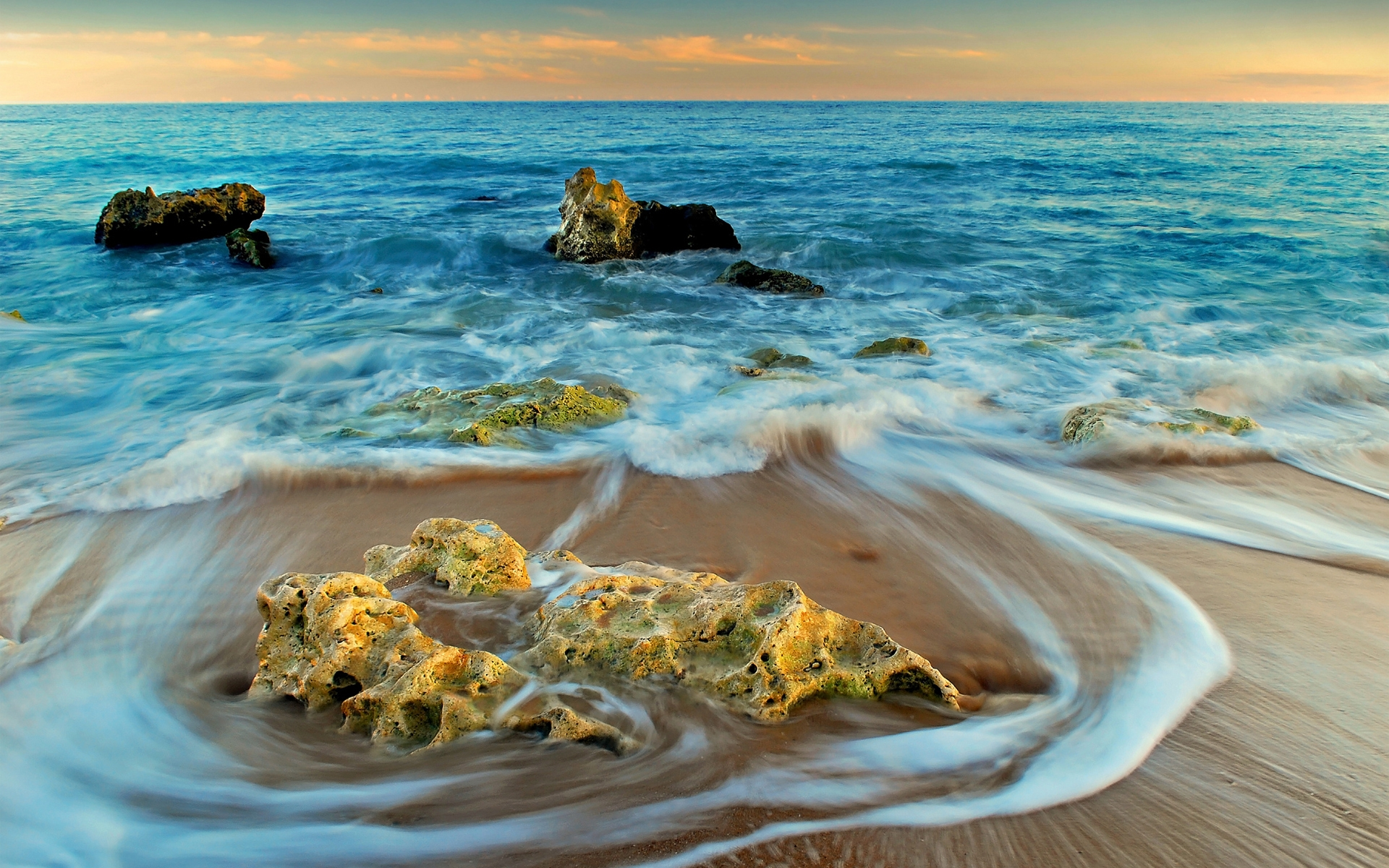 Rocks and Sea Landscape for 1920 x 1200 widescreen resolution