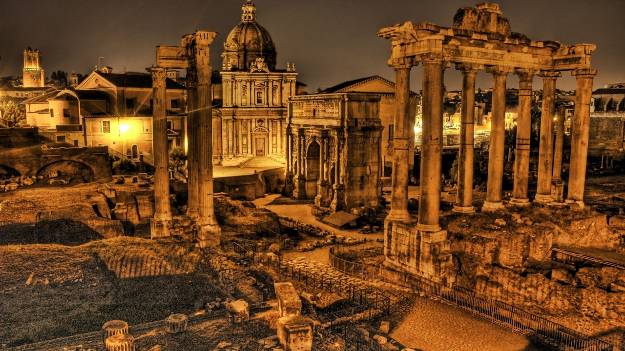 Rome Ruins for 1280 x 720 HDTV 720p resolution