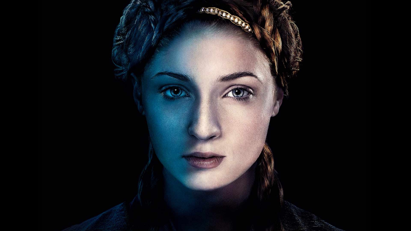 Sansa Stark Game of Thrones for 1366 x 768 HDTV resolution