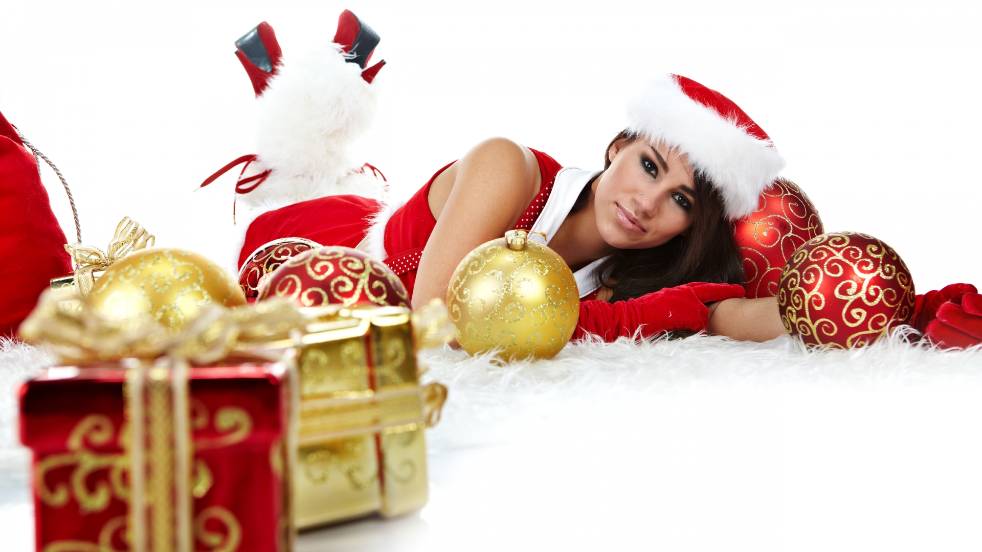 Santa Babe for 1920 x 1080 HDTV 1080p resolution
