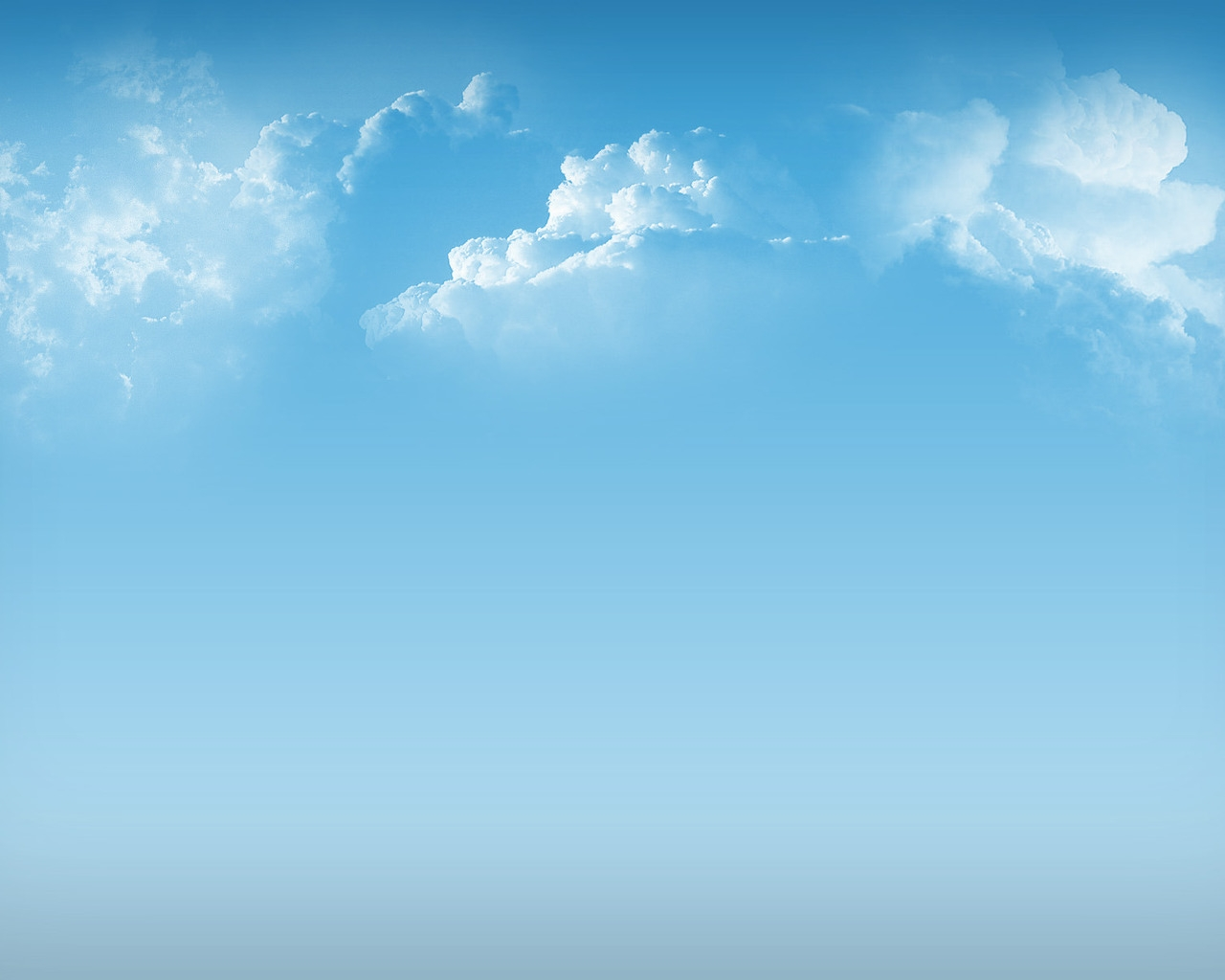 Simple Clouds for 1280 x 1024 resolution