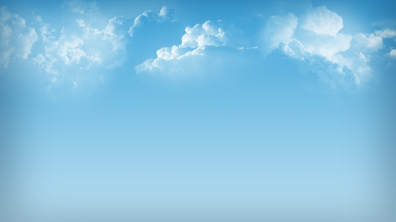 Simple Clouds for 1280 x 720 HDTV 720p resolution